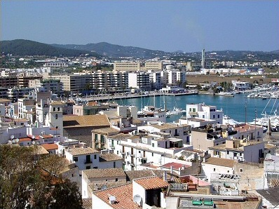 Barrio de La Marina en Ibiza
